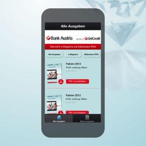 advantage:apps erstellt E-Magazin App für Bank Austria