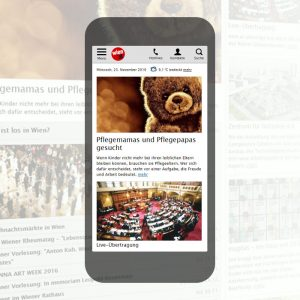 advantage:apps gestaltet responsive Website für wien.at