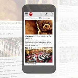 advantage:apps gestaltet responsive Website für wien.at