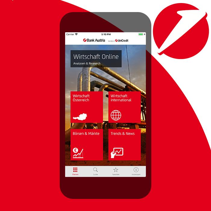 App für  Bank Austria Wirtschaft Online